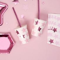 Little Stars Pink Paper Cups (8)
